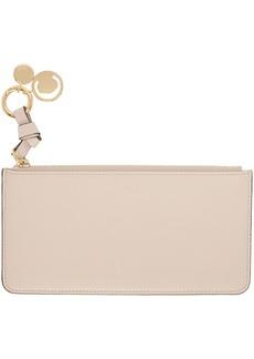 Chloé Pink Flat Alphabet Zipped Wallet