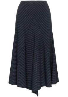 Chloé pinstripe asymmetric panelled virgin wool blend skirt