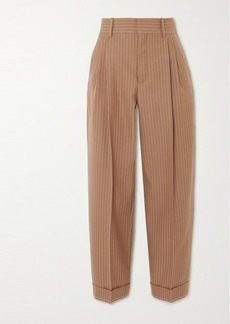 Chloé Pinstriped Wool Tapered Pants