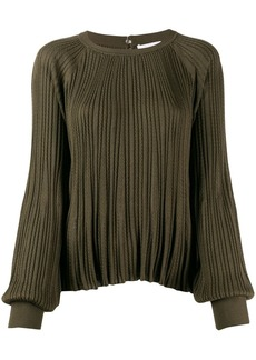 Chloé pleated cable knit top
