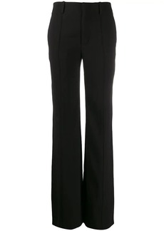 Chloé pleated front flared trousers