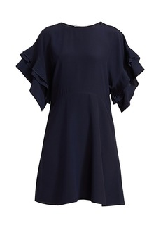Chloé Pleated Ruffle A-Line Dress