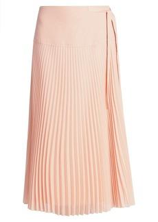 Chloé Pleated Silk-Blend Georgette Skirt