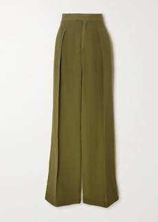 Chloé Pleated Silk-georgette Wide-leg Pants