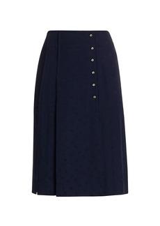 Chloé Pleated Silk Skirt