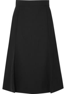 Chloé Pleated Stretch-wool Midi Skirt
