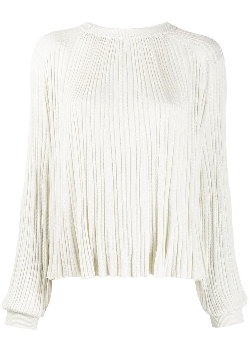 Chloé pleated knitted top