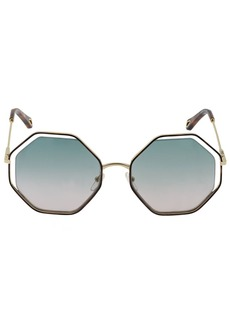 Chloé Poppy Rectangle Metal Sunglasses