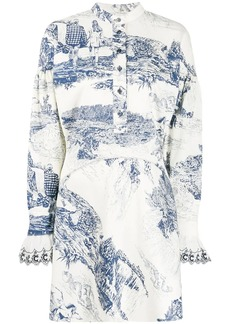 Chloé Printed mini dress
