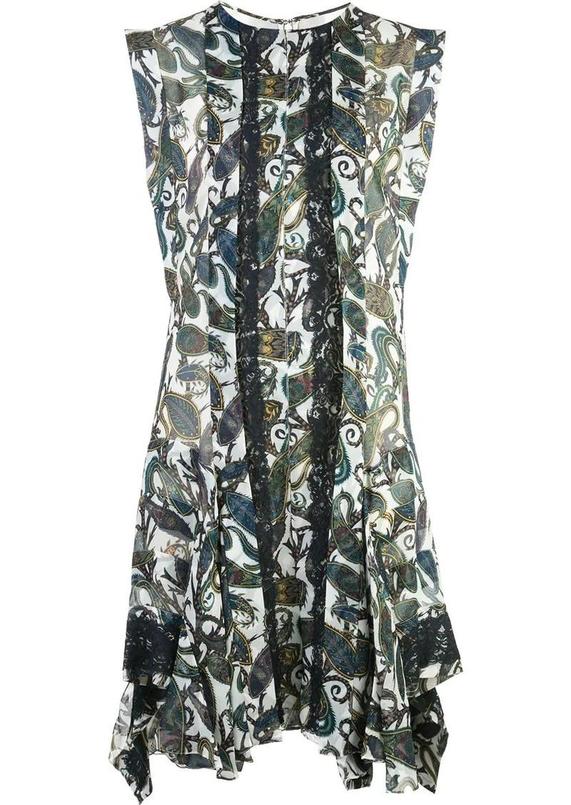 Chloé printed panel dress