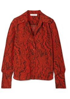 Chloé Printed Silk Crepe De Chine Shirt