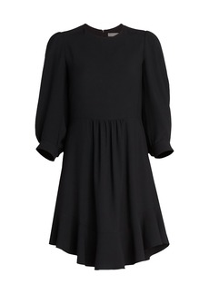 Chloé Puff-Sleeve Cady Dress