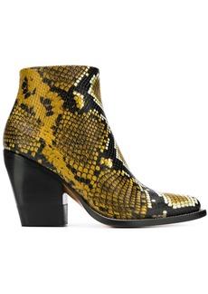 Chloé python printed boots