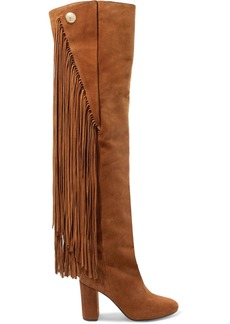 Chloé Qaisha Fringed Suede Over-the-knee Boots
