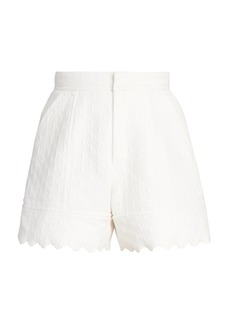 Chloé Quilted Jacquard Cotton Shorts