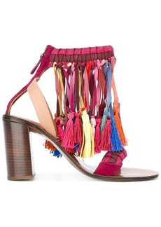 Chloé rainbow tassel sandals