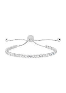 Chloé Rhodium-Plated Sterling Silver & Cubic Zirconia Bolo Bracelet