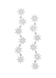Chloé Rhodium-Plated Sterling Silver & Cubic Zirconia Starburst Drop Earrings