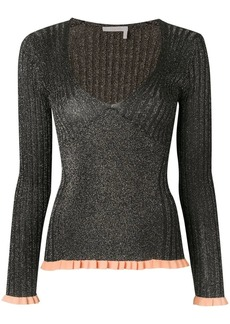 Chloé ribbed fitted top