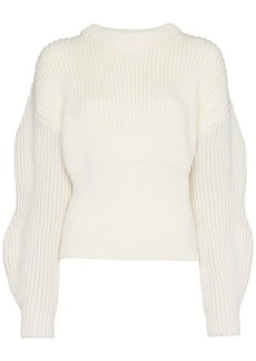 Chloé ribbed knitted wool jumper