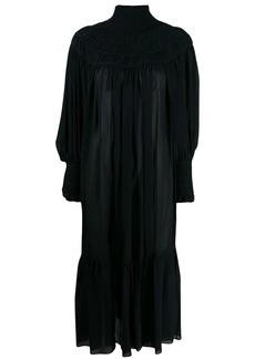 Chloé ribbed neck smock dress