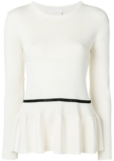 Chloé ribbed peplum jumper