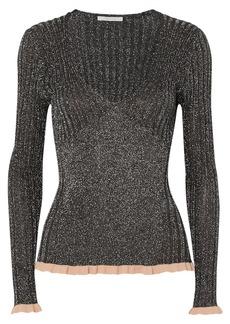 Chloé Ribbed Silk-blend Lurex Sweater
