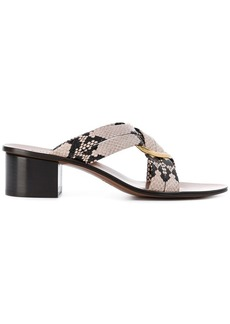 Chloé ring embellished cross over sandals