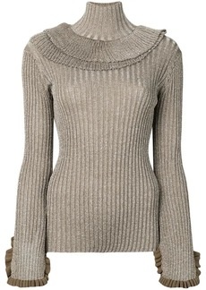 Chloé roll neck ribbed top