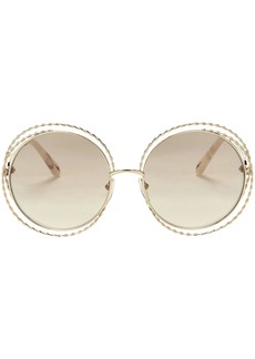 Chloé Rope Metal Round Sunglasses