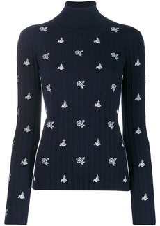 Chloé rose embroidery jumper