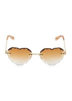 Chloé Rosie Heart 55MM Sunglasses