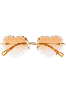 Chloé Rosie heart-frame sunglasses