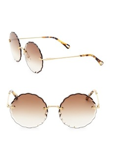 Chloé Rosie Round Scalloped Sunglasses