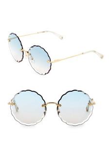 Chloé Rosie Round Scalloped Sunglasses