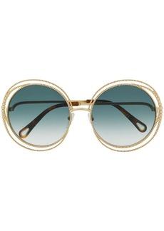 7a96d6bf0 Chloé Vera Scalloped Round Plastic Sunglasses | Sunglasses