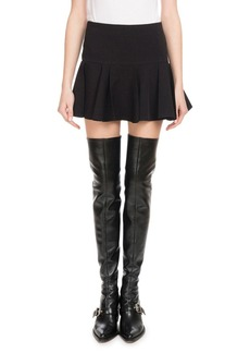 Chloé Ruffle-Hem Crepe Mini Skirt