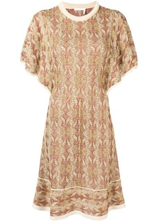 Chloé ruffle sleeve sweater dress