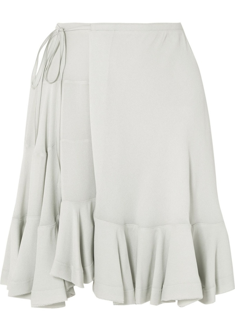 Chloé Ruffled Crepe Wrap Mini Skirt