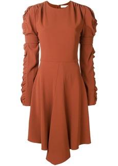 Chloé ruffled sleeve flared dress