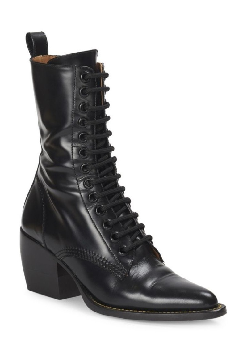 9026577d Rylee Lace-Up Leather Mid-Calf Boots