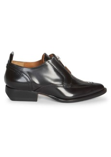 Chloé Rylee Zip-Up Leather Oxfords