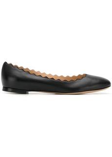 Chloé scalloped ballerina shoes