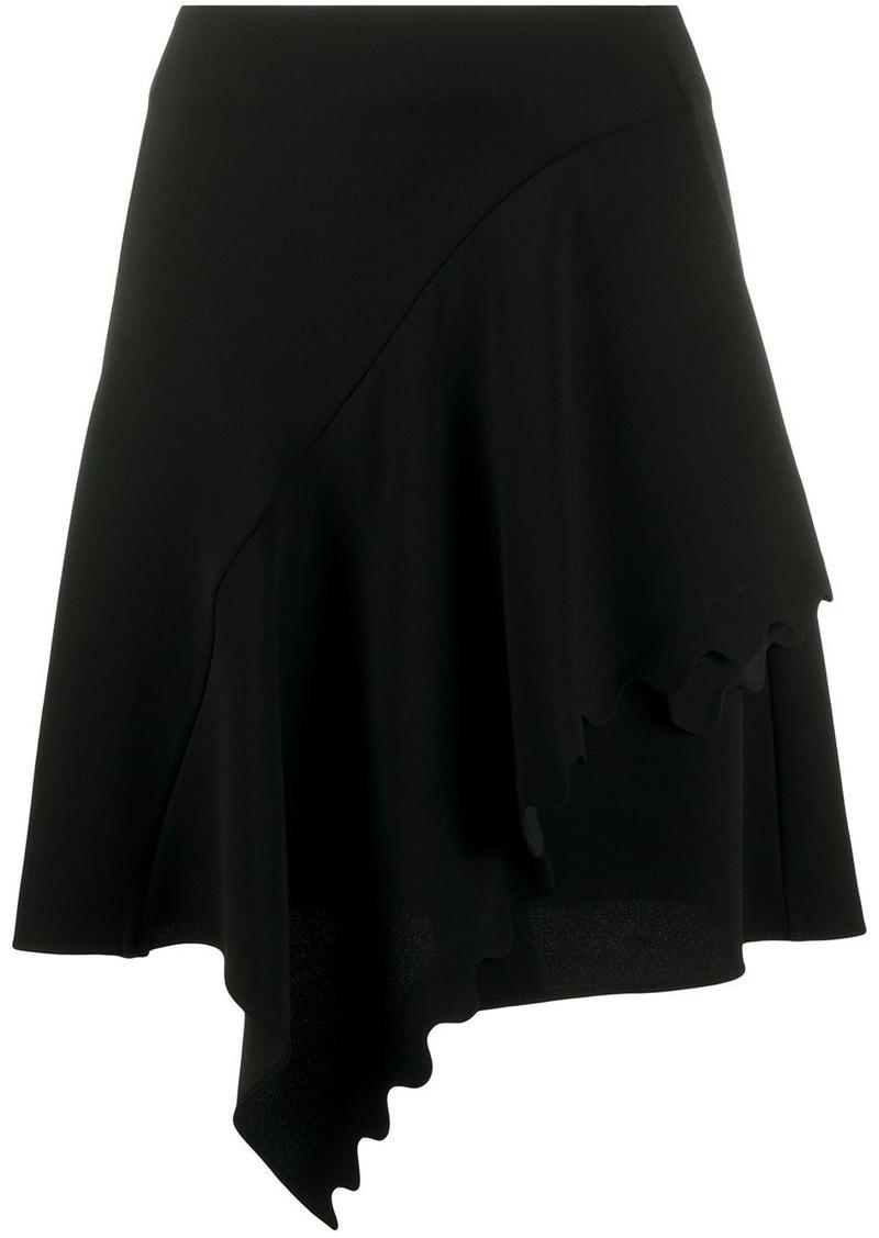 Chloé scalloped draped skirt
