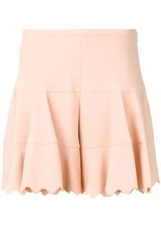 Chloé scalloped hem shorts