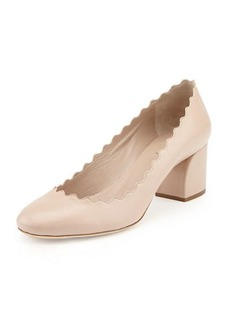 Chloé Scalloped Leather Pump