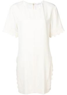 Chloé scalloped T-shirt dress