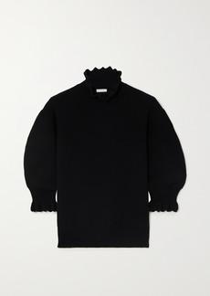 Chloé Scalloped Wool-blend Sweater