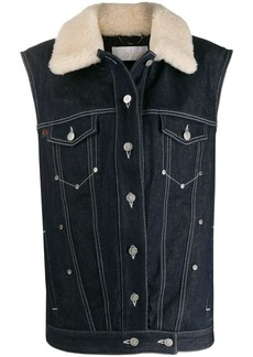 Chloé shearling collar denim gilet
