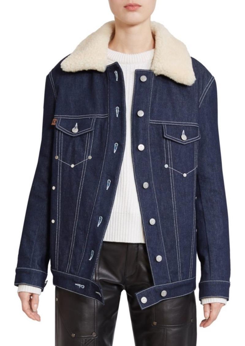 Chloé Shearling Collar Denim Jacket